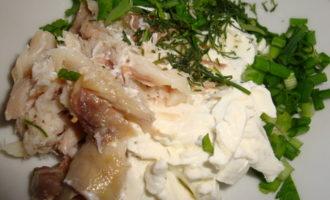 Оладьи из гречки с рыбным кремом