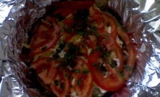Запеченая баклажановая закуска с сыром(фото)