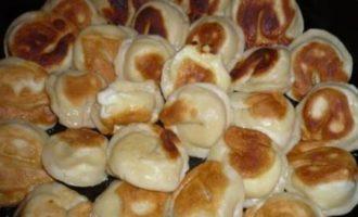 Вареники с фетой и козьим сыром