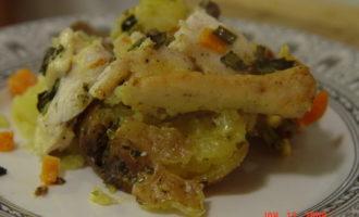 Картофель под курятиной