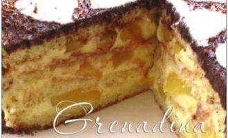 Персиковый торт с лимонно-апельсиновым кремом