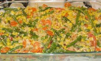 Курочка с овощами в сметане