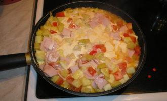 Макароны с кабачками в сливочном соусе