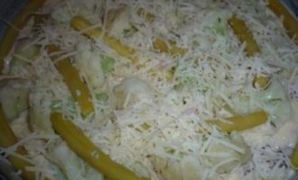 Куриная грудка с овощамии сыром в тесте
