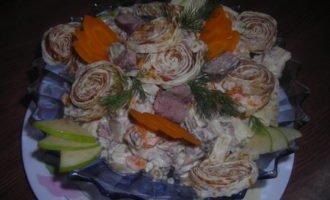Салат по - казахский.
