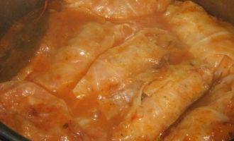 Голубцы с курино-овощной начинкой.