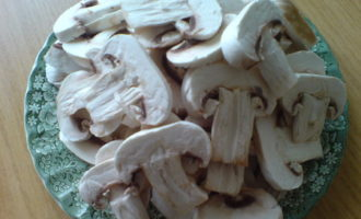 Рыба,запеченная под грибами