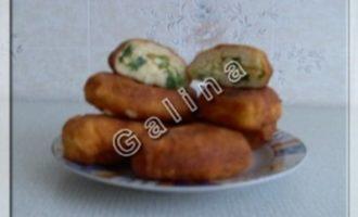 Творожные пирожки с яйцом и луком