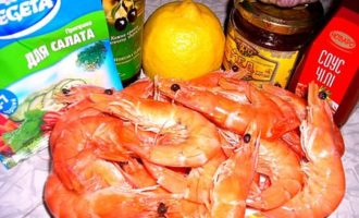 Креветки в остро-медовом соусе