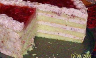 """Торт """"творожно-клубничный"""""""
