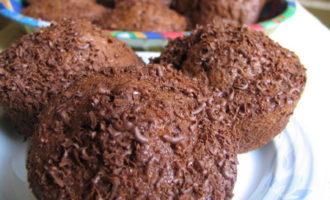 Шоколадные кексы с кабачками