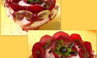 Творожно-розовое соцветие (типо салат)