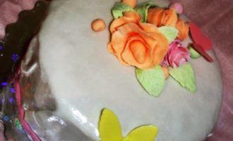 Торт к дню рождения мамы. (тренировка)