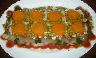 Рыбное заливное с томатным соком