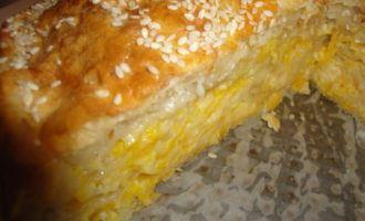 Нежный пирог с сыром и тыквой/kolokithopita/
