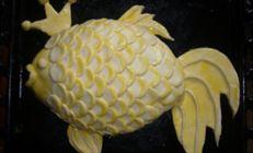 Рыбный пирог «золотая рыбка»