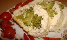 Куриный рулет-суфле с брокколи