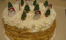 Новогодний тортик (кокосовый рыжик)