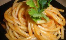 Спагетти в томатно-водочном соусе
