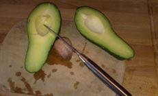Салат из авокадо с кресс-песто