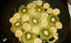 Семга с киви и бананом