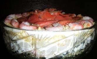 Праздничный рыбный салат