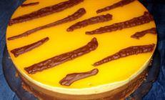 """Торт """"триколор"""" под манговым покрытием"""