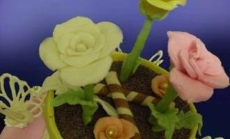 """Торт """"цветочный горшок"""""""