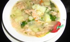 Рыбный суп с кус-кусом.