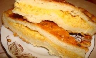 Сырно-морковный пирог