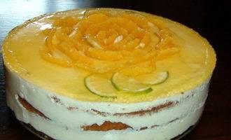 Торт «апельсиновый» с твороженным суфле и миндально-цитрусовым бисквитом без муки от natapit.