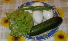 """""""парусная регата"""" (простой вариант оформления варёных яиц)"""