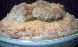Картофельная запеканка с цветной капустой