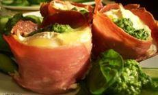 Завтрак фермера.яичница в вяленом мясе !!!