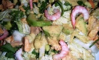 Легкий рыбный салат