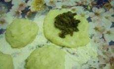 Кнедлики картофельные с грибами