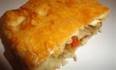 Полуслоёное дрожжевое тесто и пирог из него