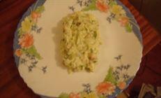 Салатик с морепродуктами на скорую руку(вариант)