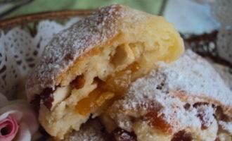 """Творожное печенье """"готто"""" с курагой и орехами"""