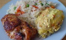 Куриные грудки ,две в одной тарелке,но такие разные..