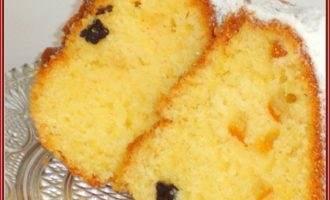 Кекс с яичным ликёром и пудингом