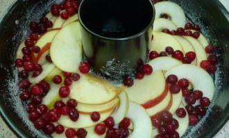 """Фруктовый пирог """" яблочно-грушевая дружба с клюквой"""""""