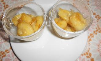 Мороженое из авокадо с жареными бананами
