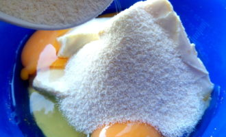 Запеканка с ананасовыми цукатами