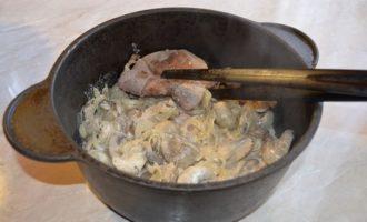Мясо с грибами «старый новый год»