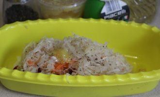 Салат из квашенной капусты и редьки