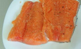 Салат с лососем.