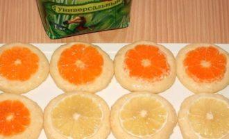 Миндальное печенье с мандаринами и лимоном