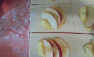 Творожно-яблочные слойки