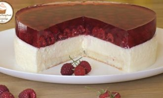 """Муссовый торт """"сливочно-малиновая нежность"""""""